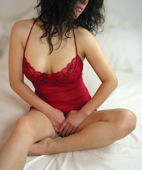 very pretty korean girl in red sleep set. she works as an escort in nork york, yonge and finch.